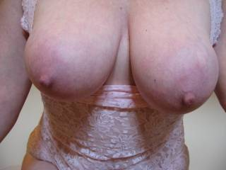 WOW Gorgeous perfect breasts. Just absolute perfection. Marvelous areolas   delicious nipples.  gorgeous indeed. love them. Got our vote. Hope you like ours. Mike and betty