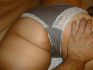 Yup me too, looks so hot in them! Love them gray panties.