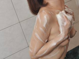 my asian wife in the shower