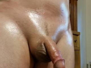 Fresh from shower an shaved up an oiled up!!!