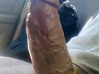 His huge cock on way home