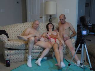 The three of us masturbating together as foreplay for video to send to a few friends trying to get them to join us.