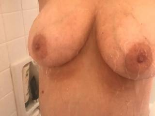 her big tits are waiting for your cock...who\'s stopping over to titty fuck my wife.....