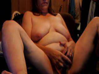 tommie doing a live nude chat for our friend dave that we met on line and she enjoyed it i no he did as well