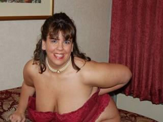 Naughty V teasing me in her corset