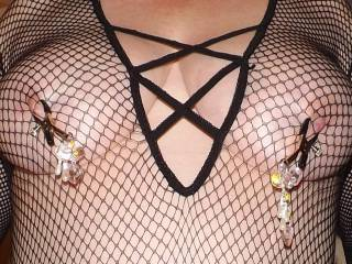 You make those nipple clamps sexy as hell.