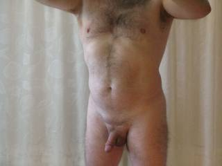 To be kneeling in front of you with my hands on your hips and your cock down my throat....swallowing your cock and cum.  Nice picture hon.  I love telling a sexy man that I'd suck his cock.  MILF K