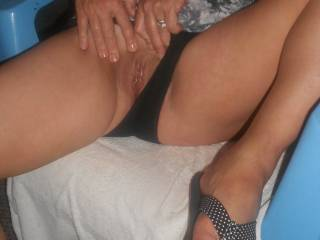 Love those toes and that beautiful wet pussy