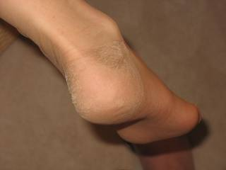 My sexy wife's foot in RHT stockings.