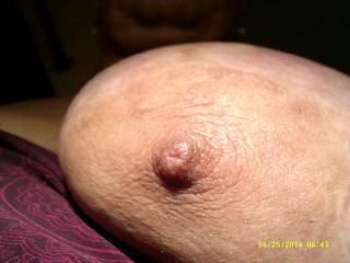 That's wonderful motivation to do just that, love to suck on that lovely nipple and then slide my cock between those soft breasts and give you a warm load