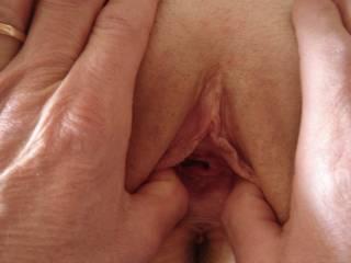 I like to stretch her hot pink hole