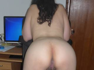 Okay but I am going to go balls deep were my balls slap off that amazing ass and keep in mind I am 6 feet 7 with a size 18 foot.