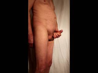 Dropping the undies and enjoying some stroking of my oiled erection