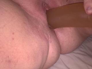 Wishing my big dildo was a real cock fucking the guts outta me!