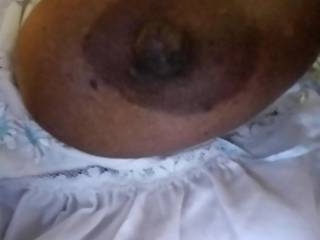 I love sucking on my wife big nipples