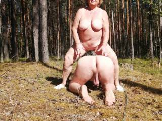 I take my cuckold for a ride