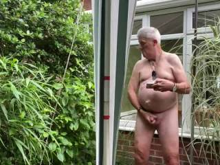 Really enjoying my self having my stiff prick in my hand in the garden wanking . Looking at Zoigers having blowjobs etc