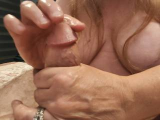 I love edging a cock. Let these married fingers take care of your throbbing manhood. Check out my newest video to watch all of that lovely cum. Mmm...