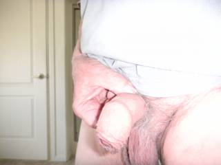 An old cock getting ready for some action. I could use some help from one of you older gals..