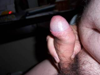 Sitting at computer and watching porn and jacking off