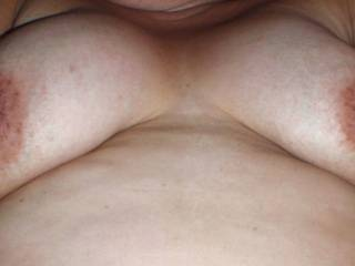 A pic of my wife's tits while having sex!