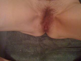 A lady I dated a few years ago. After I shot a load in her pussy, she asked for a load in her ass!