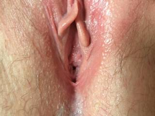 Just had it my tounge, do you like her little pussy?