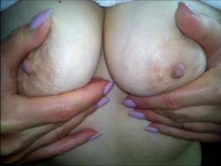 Perfect Pair.. Nice Tits.. and Nipples that are Exciting to see