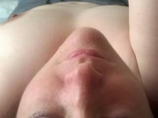 Love to cum over your pretty face and tits