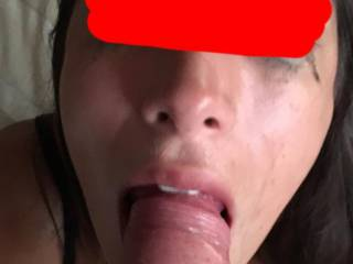 Eyes watering after she takes my cock deep in her throat. Her fiancé watches and jerks off to the performance. I love being watched.