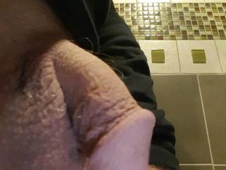 Side view of my shaved cock.