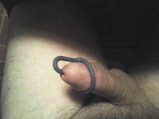 He woke up hard again, we decided to do photo tributes before playing and satisfying me,  he started oozing precum so I plugged his cock with a favorite  plug.