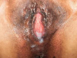 Pink pussy creampie!