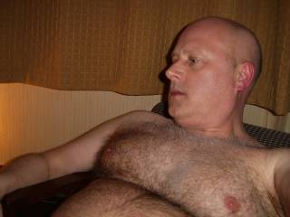 Showing my big hairy chest