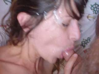 beautiful face. looks even better with cum!!!!
