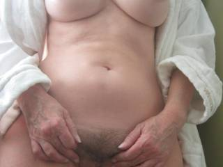 Ready for a tongue or two - anyone want to lick my pussy or suck on my nipples?