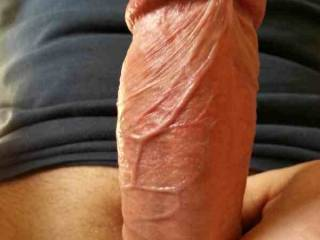 ...mmmmm, so big and smooth... i can't resist to a fresh shaved dick... gives me an enormous feeling when sliding in my wet pussy...