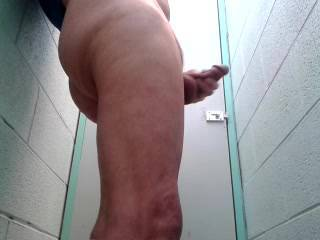 I was so horny this day so I went into a public toilet took my pants down and starting  playing with my cock.   I was hoping that a couple horny buggars would come in and bend me over, lick my arse and balls then each one slide their hard cocks right up