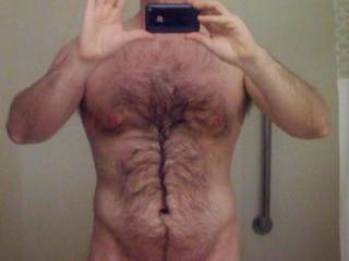 A little selfie before hitting the shower