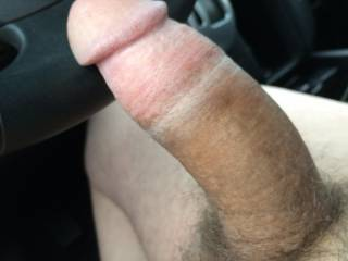 Pictures of me in the car enjoying a nice Sunday drive.