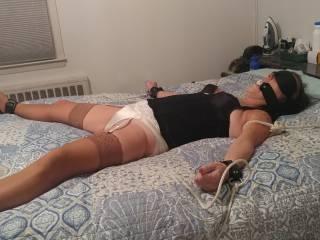 Bedroom bondage fun...