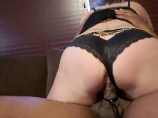 Her riding dick with panties on.
