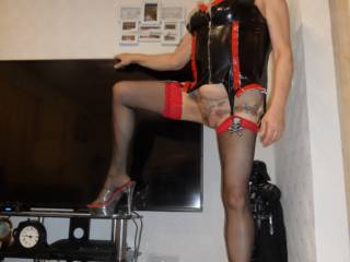 hi all what do you think of my PVC basque does it suite me ? dirty comments welcome mature couple