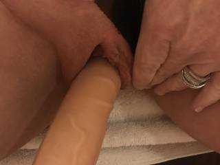 Starting off smaller so I get get the new big boy in my tight pussy