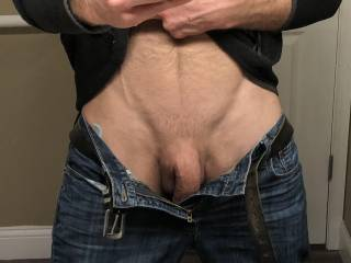 Getting hard and trying to spring free.  Want to let him out?