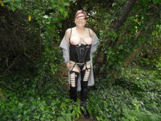 hello all it is such a turn on walking around the forest flashing myself, hubby gets so turned on  dirty comments welcome mature couple
