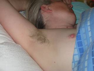 Soft hair and hard nipple, a gorgeous contrast