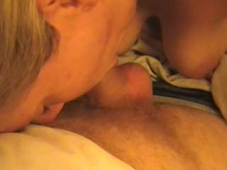 mrs mnwife is very beautiful love watching her suck your cock using only that sweet mouth also love looking at those beautiful breast