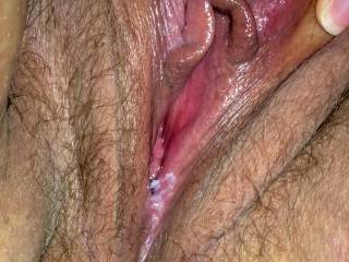 Wondering if you'd mind if i ran my tongue up and down through those sweet hot wet dripping pussy lips and lick little circles around your hard erect clit with the tip of my tongue....flicking it back and forth also !!!!!