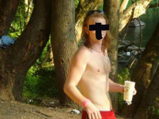 Hubby with his sexy athletic body and long hair